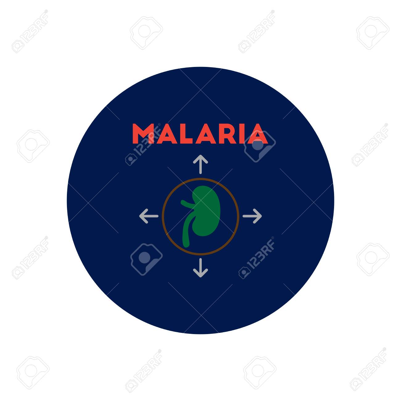 hight resolution of vector vector icon on circle various symptoms of malaria on the bodies