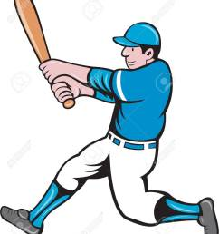 illustration of an american baseball player batter holding bat batting swinging bat viewed from the side [ 1115 x 1300 Pixel ]