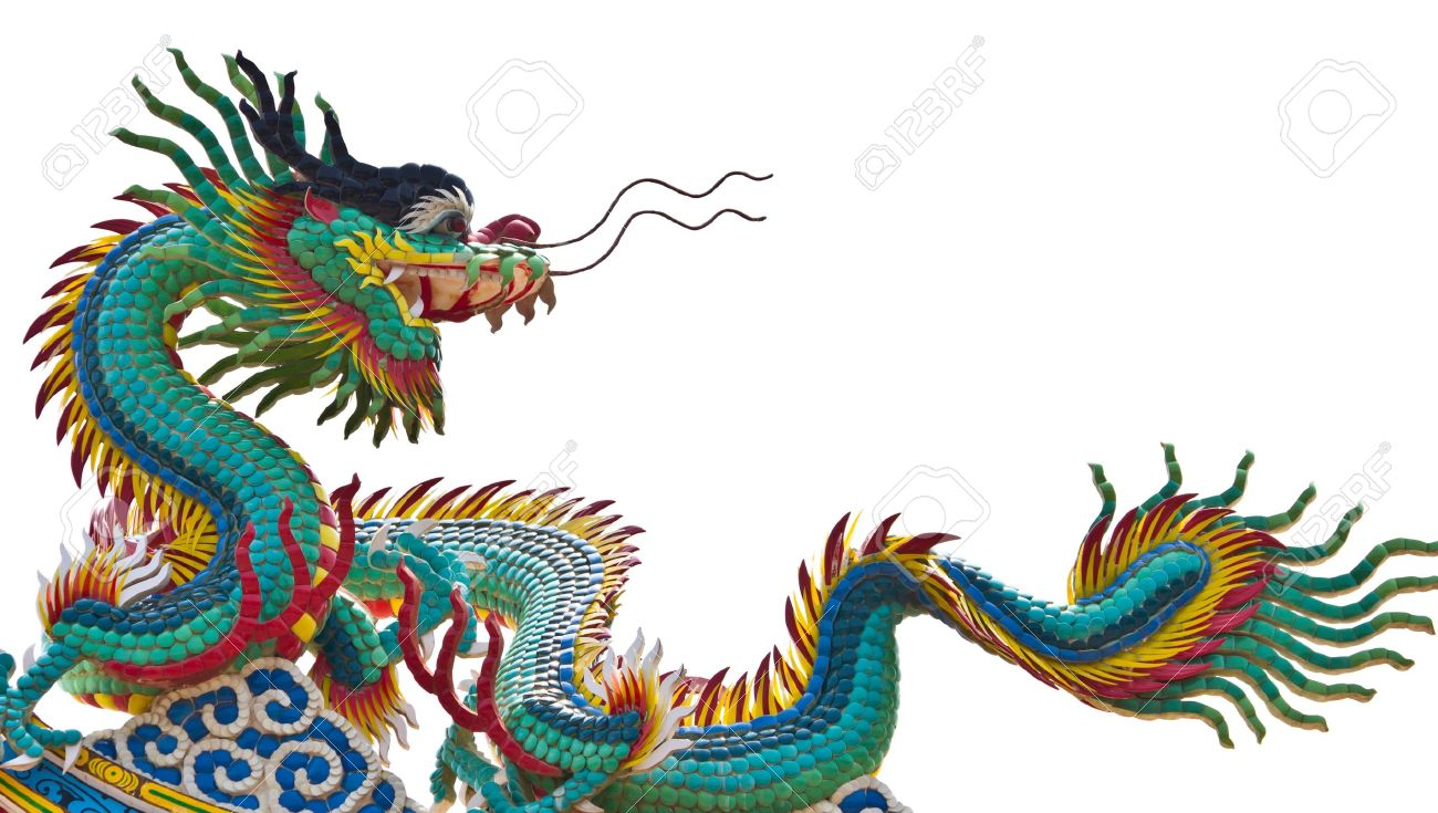 chinese dragon isolated on