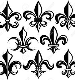 fleur de lis new orleans stock vector 8340166 [ 1300 x 1179 Pixel ]