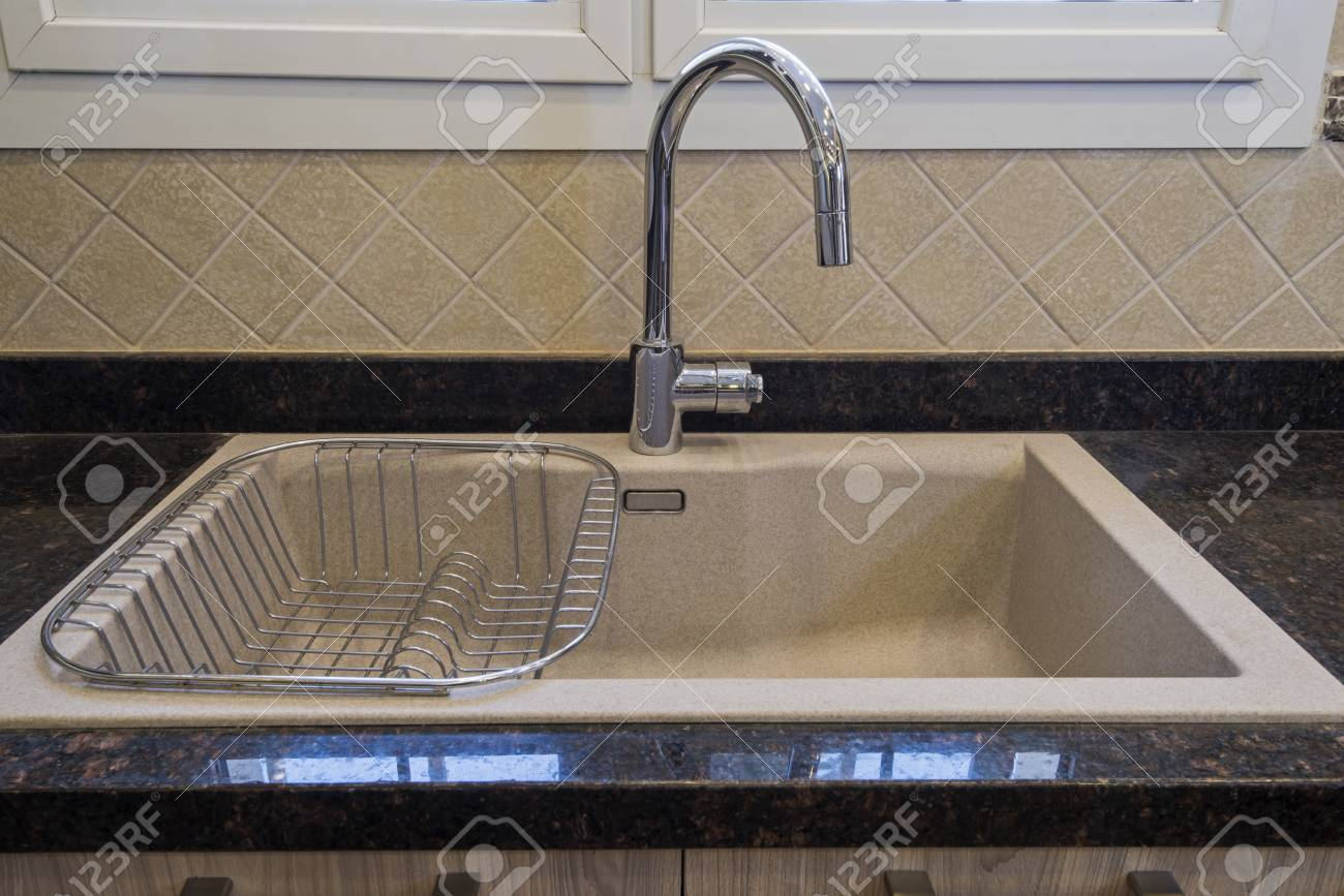interior design decor showing modern kitchen sink in luxury apartment stock photo picture and royalty free image image 124972239