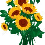 Vector The Bouquet Of Sunflowers Royalty Free Cliparts Vectors And Stock Illustration Image 5067183