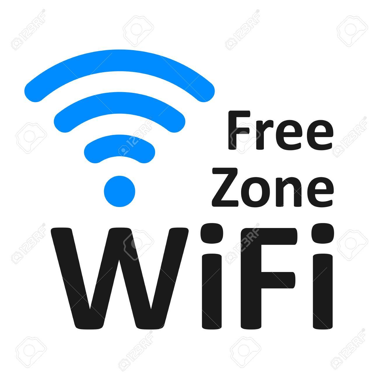 free wifi logo zone