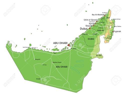 small resolution of high detailed united arab emirates physical map with labeling stock vector 122716445