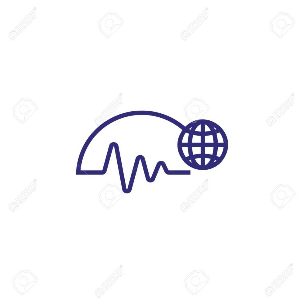 medium resolution of worldwide trends line icon diagram world globe business analytics concept can