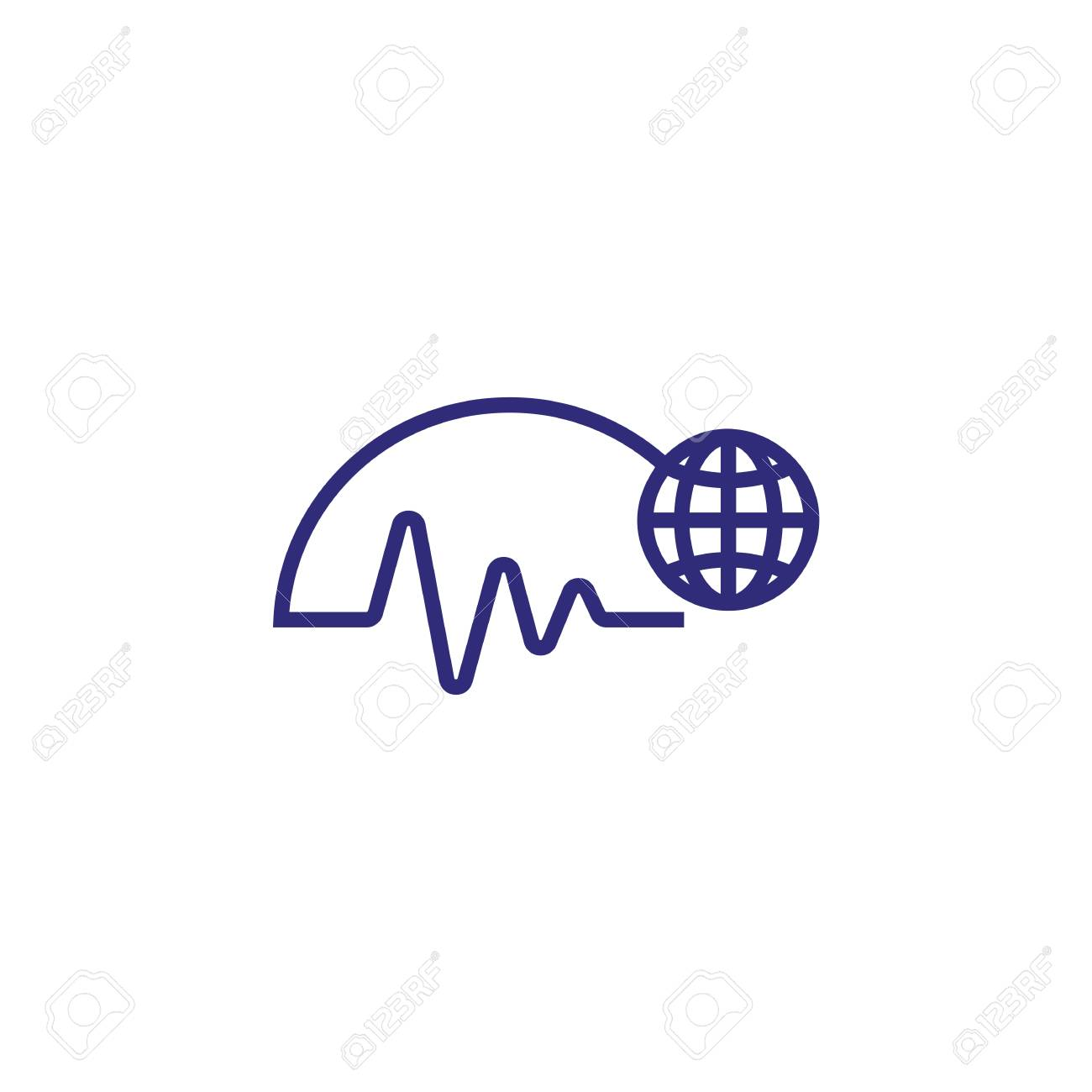 hight resolution of worldwide trends line icon diagram world globe business analytics concept can