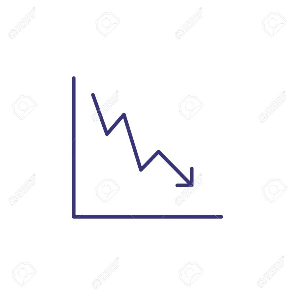 medium resolution of reduction chart line icon decrease graph diagram arrow down diagram of reduction