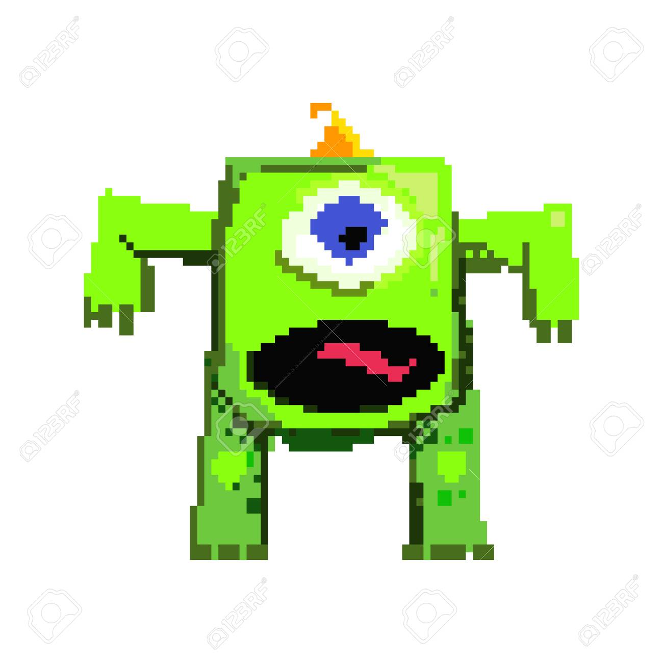 scary big pixel monster