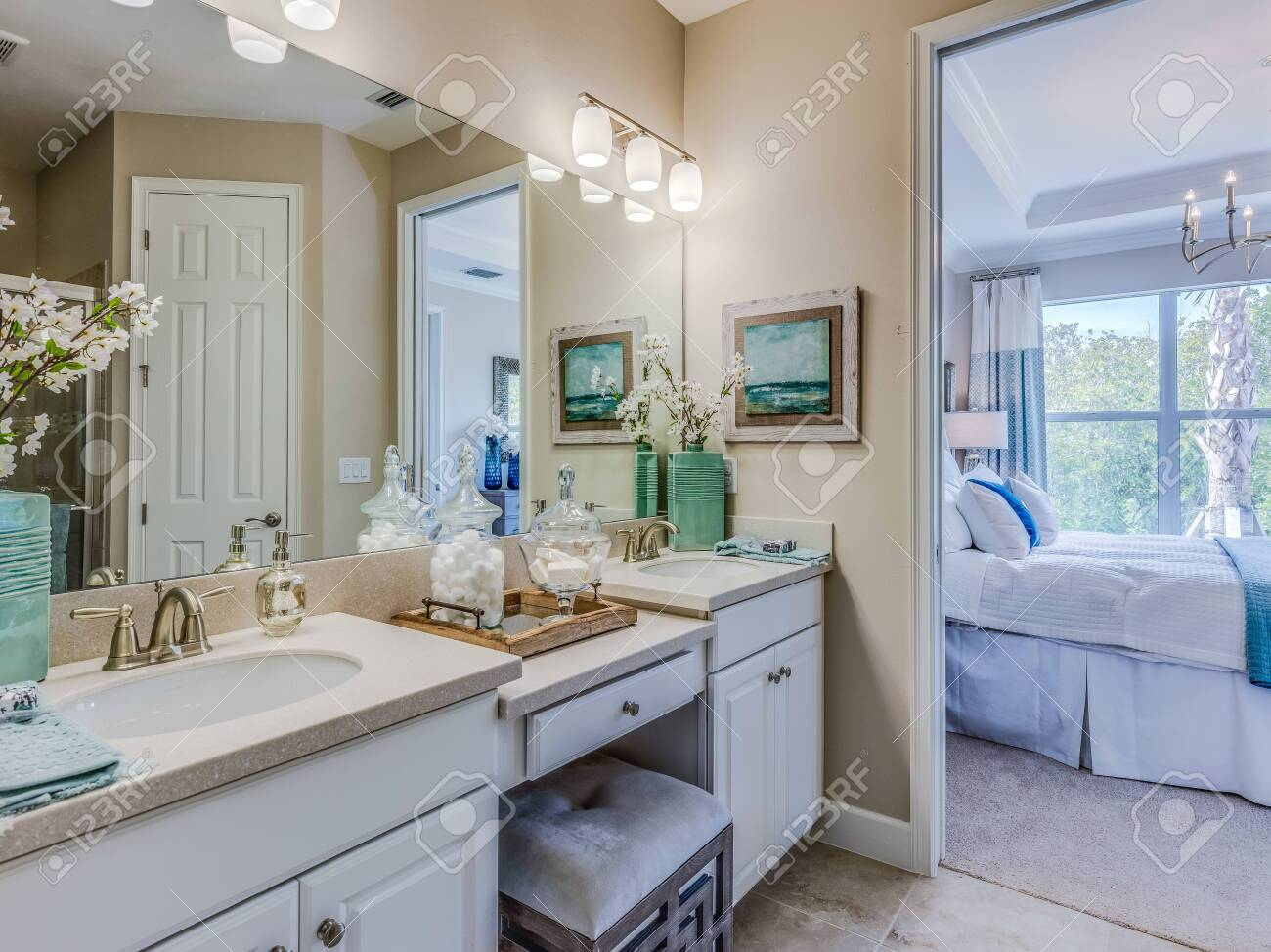 Master Bathroom Vanity And Sink Stock Photo Picture And Royalty Free Image Image 143253842