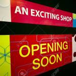 An Opening Soon Signage At A Shopping Mall Stock Photo Picture And Royalty Free Image Image 1904042