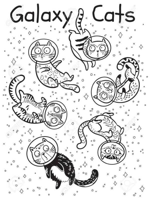 space coloring page # 12