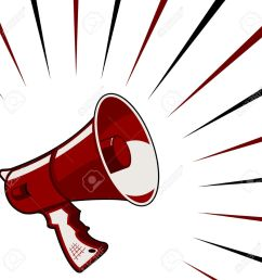 red megaphone announcement over starry square background stock vector 8069024 [ 1300 x 1300 Pixel ]