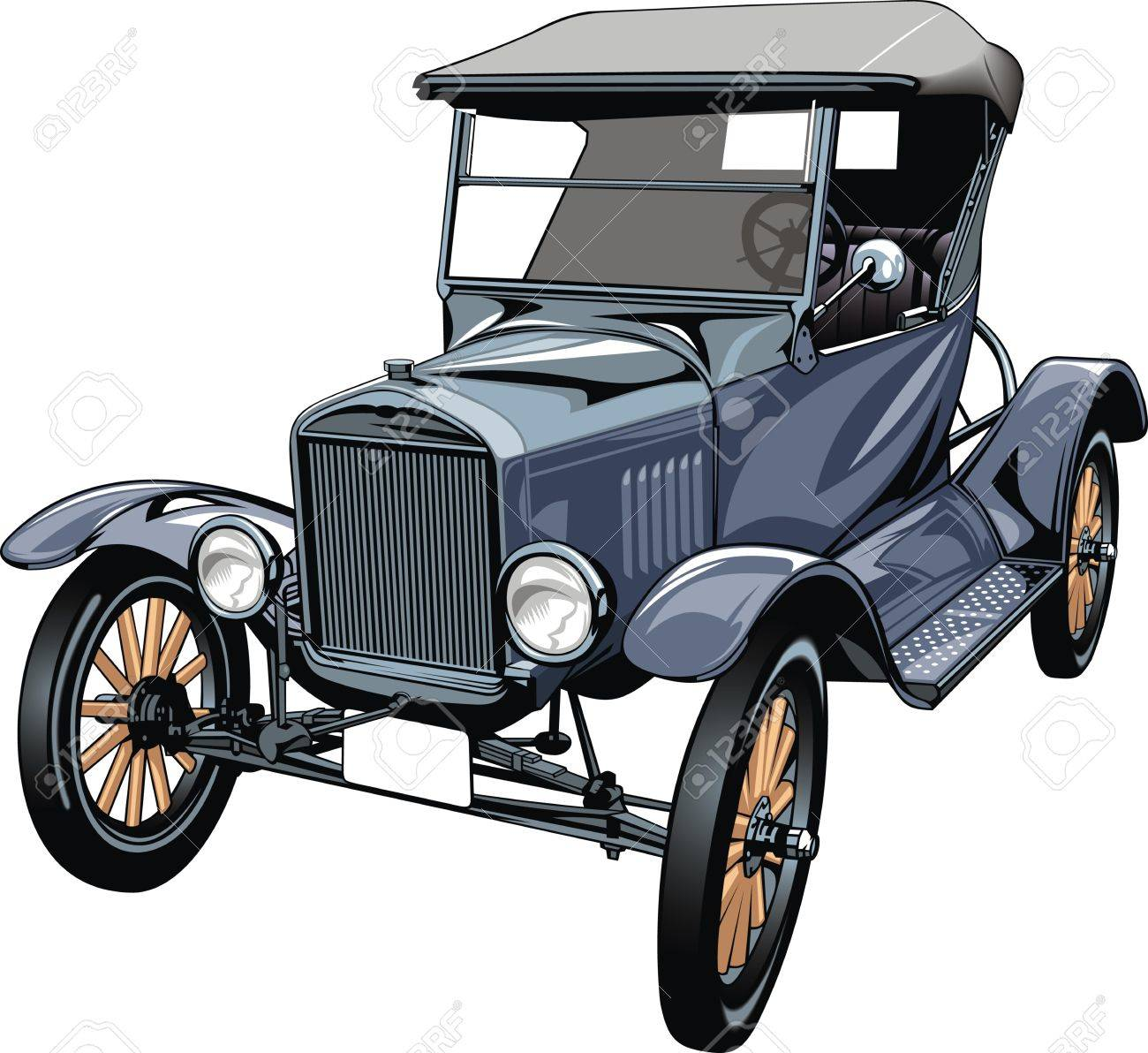 very old car isolated