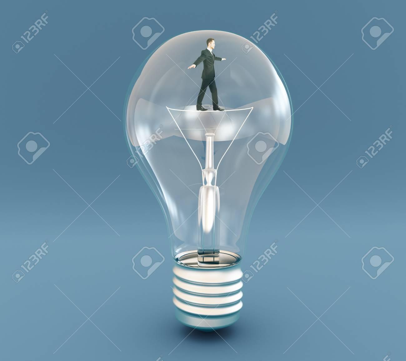 idea concept with businessman