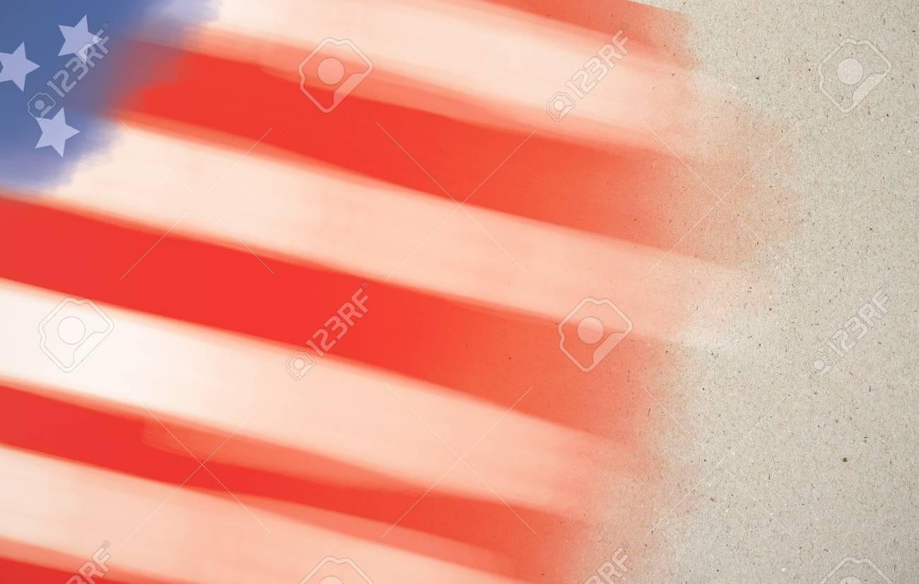 american flag backdrop stroke