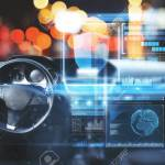 Car Interior With Digital Interface On Blurry Bokeh Background Stock Photo Picture And Royalty Free Image Image 94375538