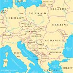 Central Europe Political Map With Capitals National Borders Royalty Free Cliparts Vectors And Stock Illustration Image 36888253