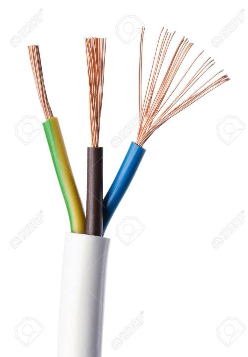 small resolution of electrical power cable iec standard on white background cross section cable jacket