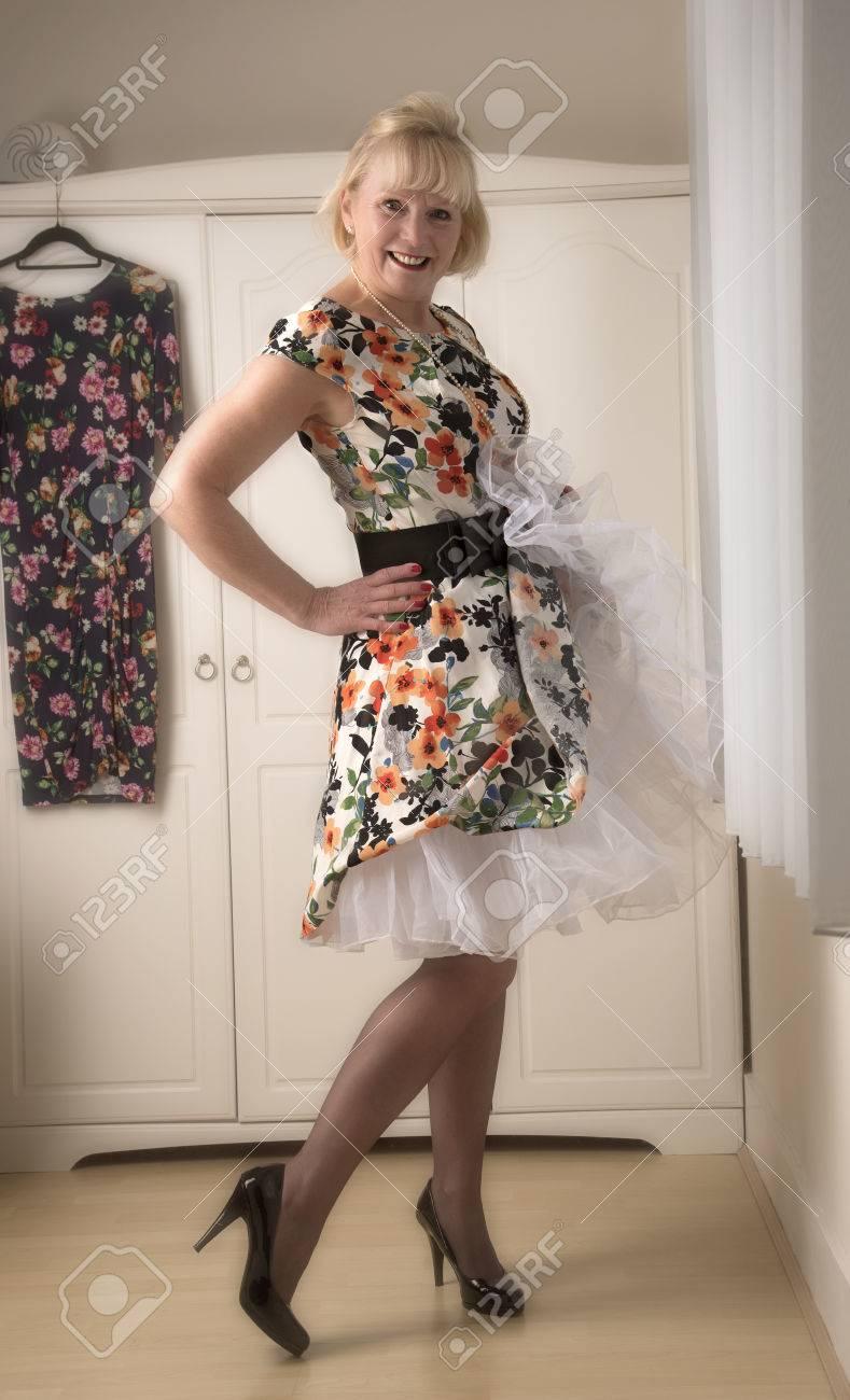 a mature woman wearing