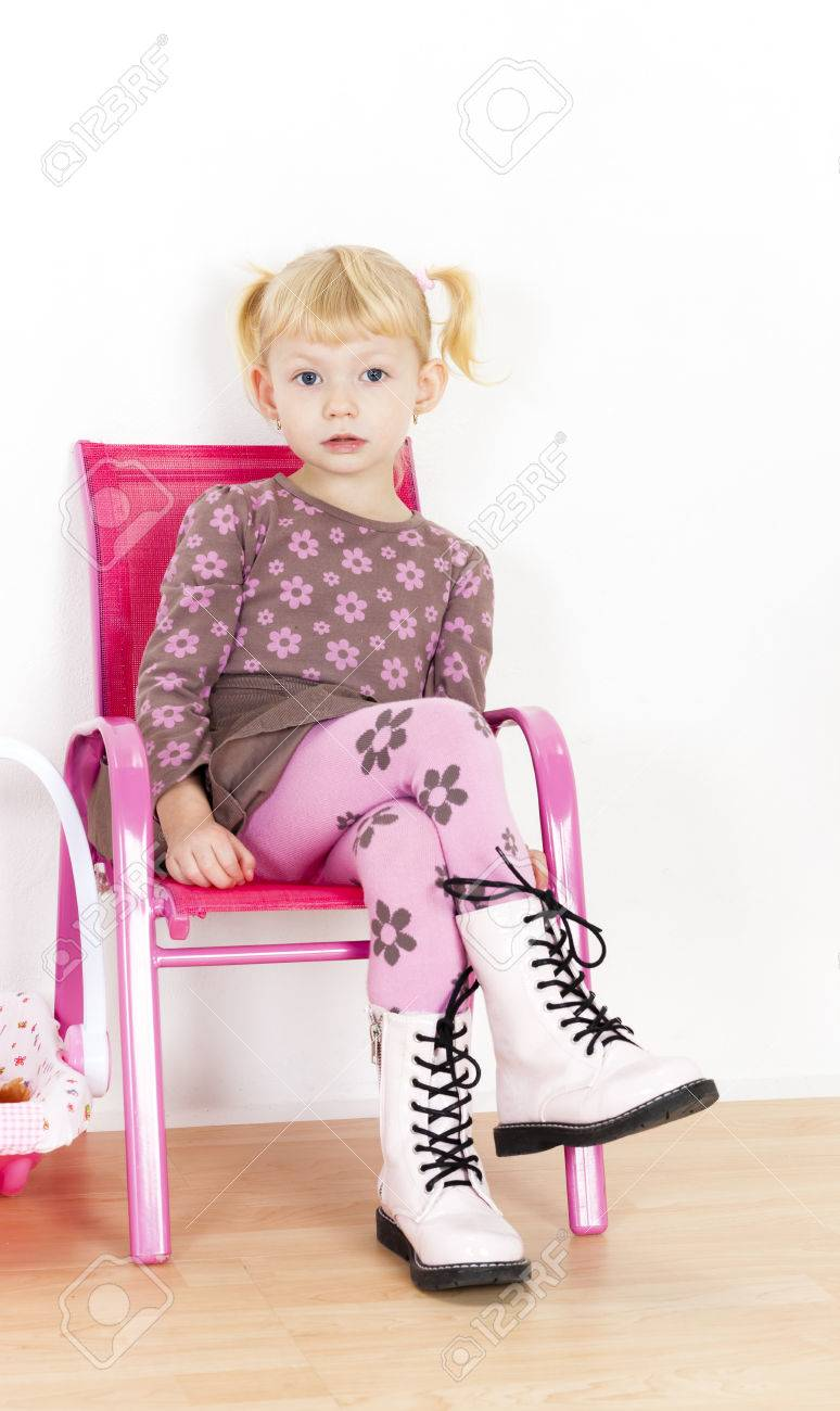 little girl chairs reclining shampoo chair sitting on stock photo picture and royalty free