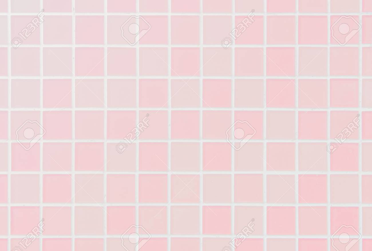 white or pink ceramic wall and floor tiles abstract background