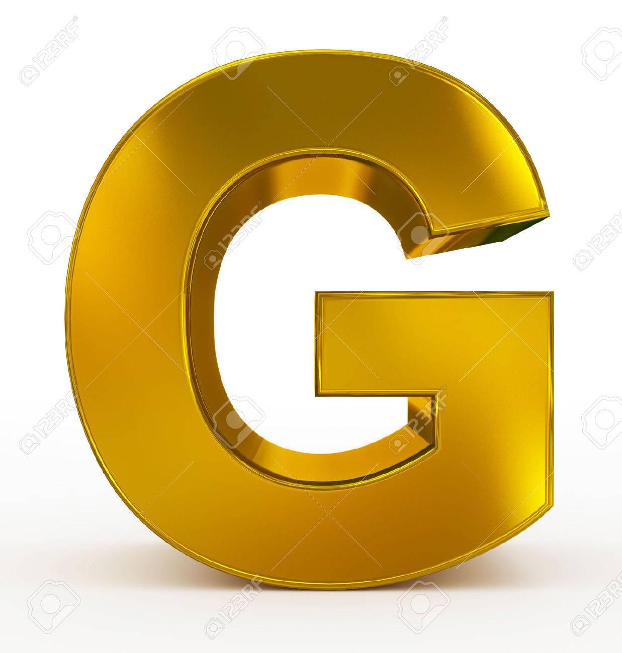 letter g 3d golden