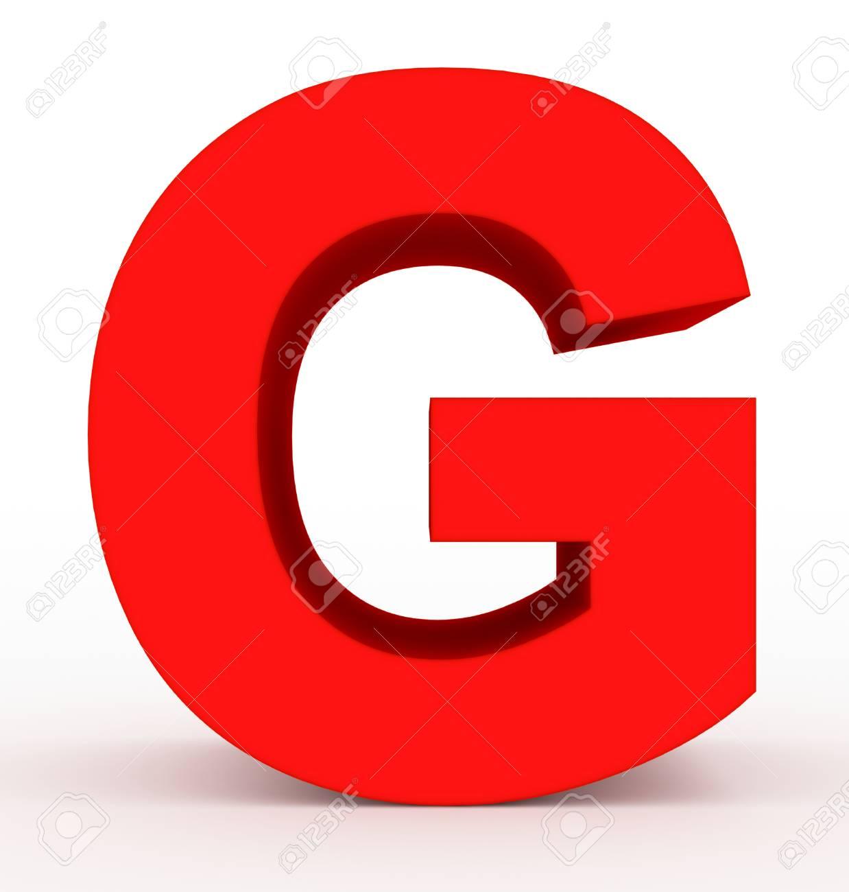 letter g 3d clean