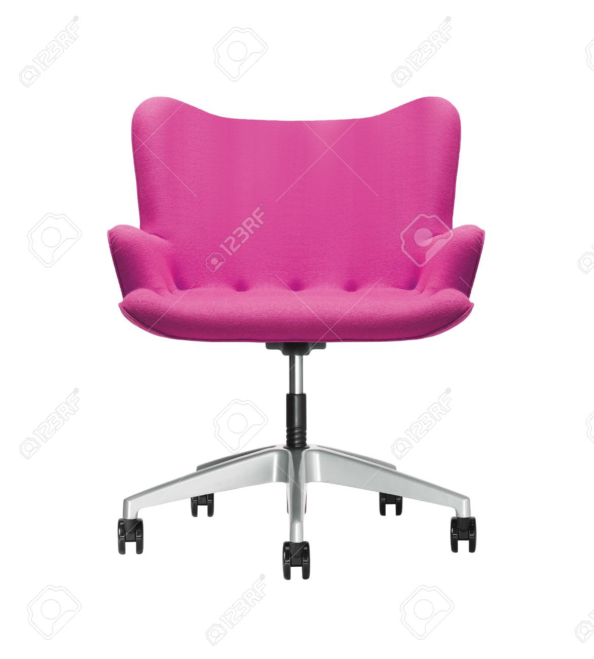 Pink Office Chairs The Office Chair From Pink Leather Isolated On White Background