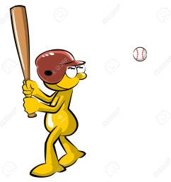 funny baseball batter cartoon isolated on white background stock vector 73470977 [ 1300 x 1300 Pixel ]