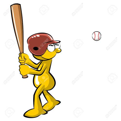 small resolution of funny baseball batter cartoon isolated on white background stock vector 73470977