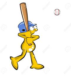 funny baseball batter cartoon isolated on white background stock vector 73470978 [ 1300 x 1300 Pixel ]