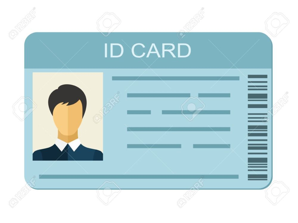 medium resolution of id card isolated on white background identification card icon business identity id card icon
