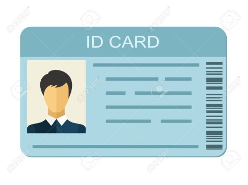small resolution of id card isolated on white background identification card icon business identity id card icon