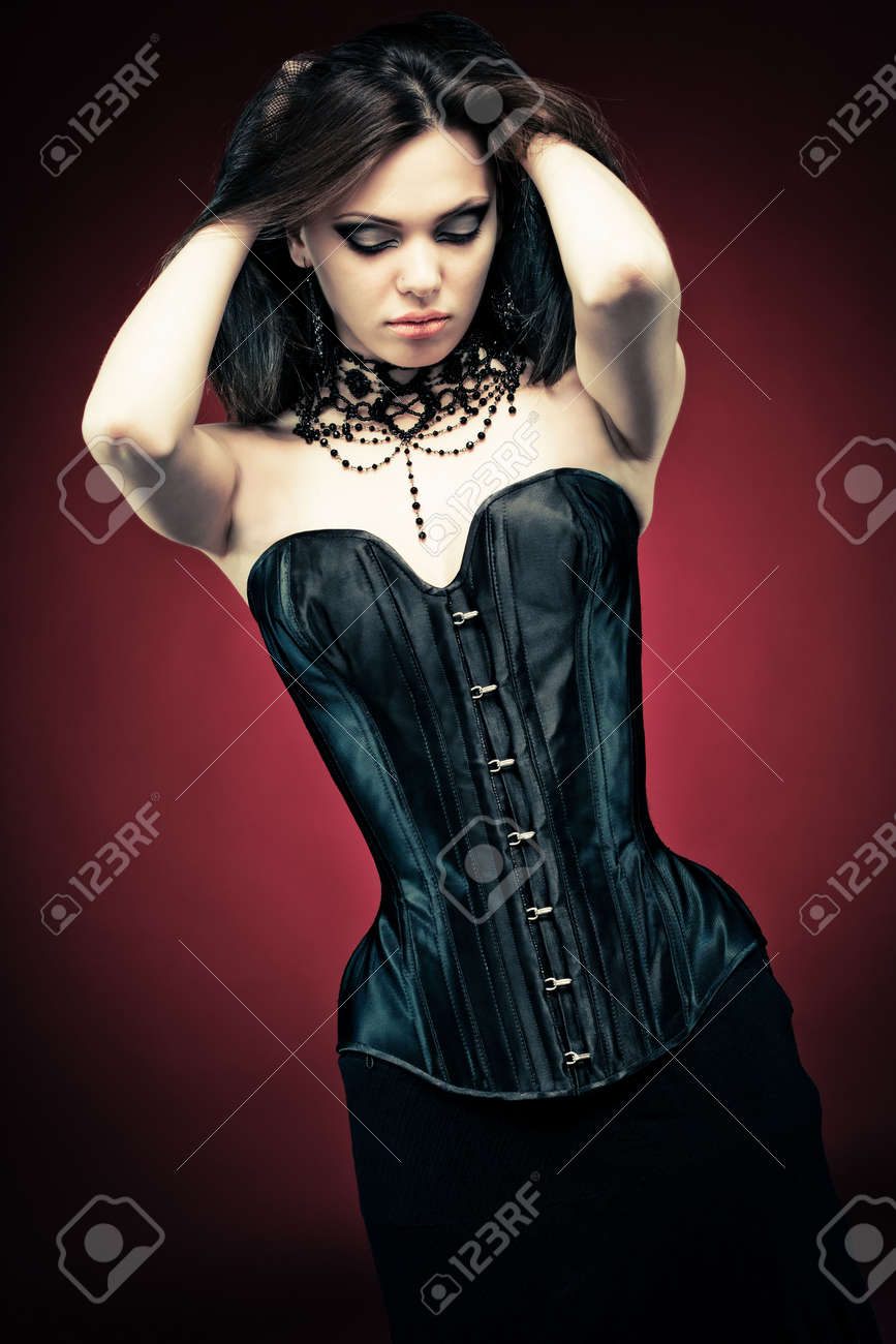 modern style gothic woman