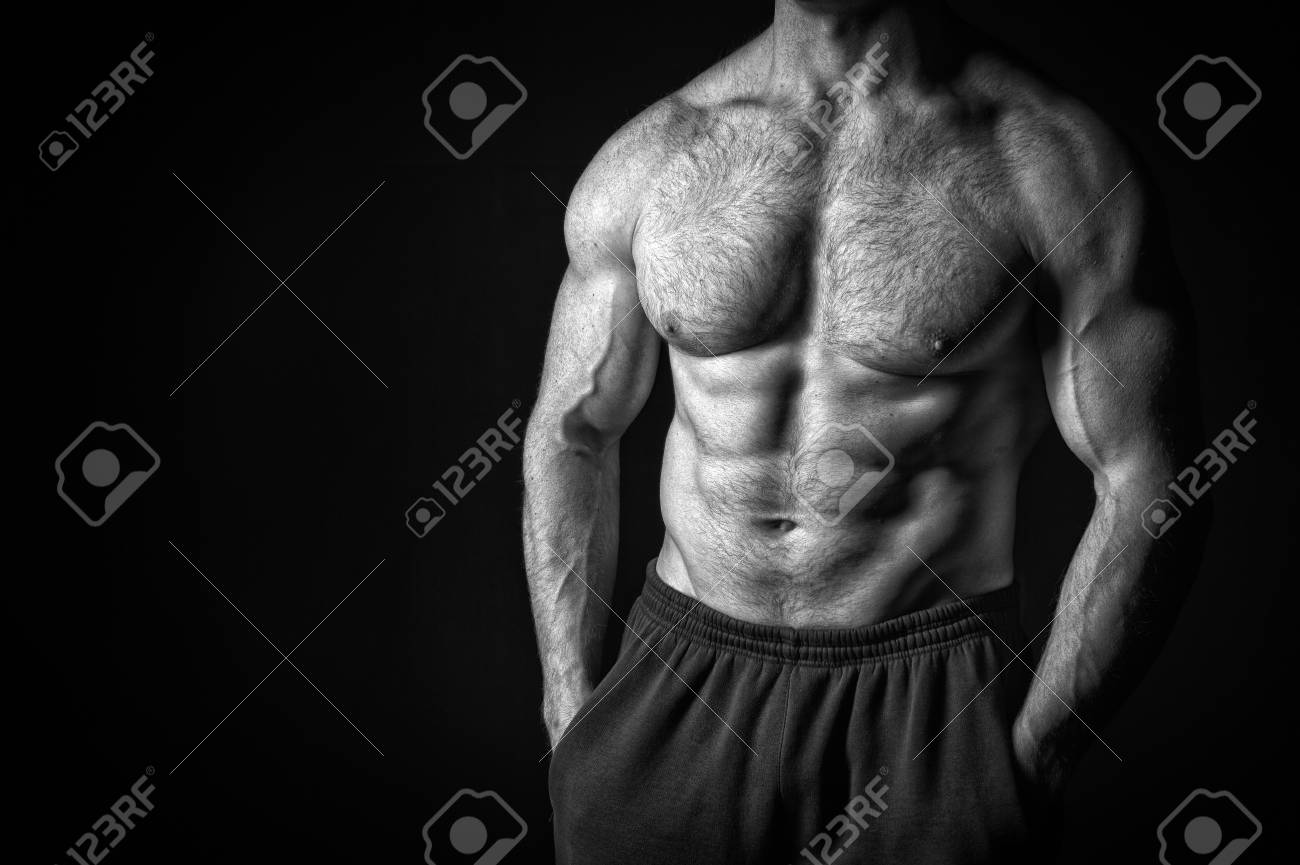 images Hairy Muscle Guys with hairy chest of handsome macho man