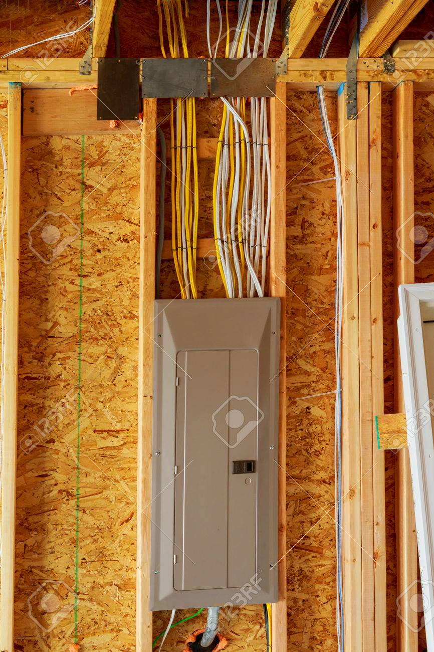 medium resolution of the frame building or a house with basic electrical wiring stock wiring house frame
