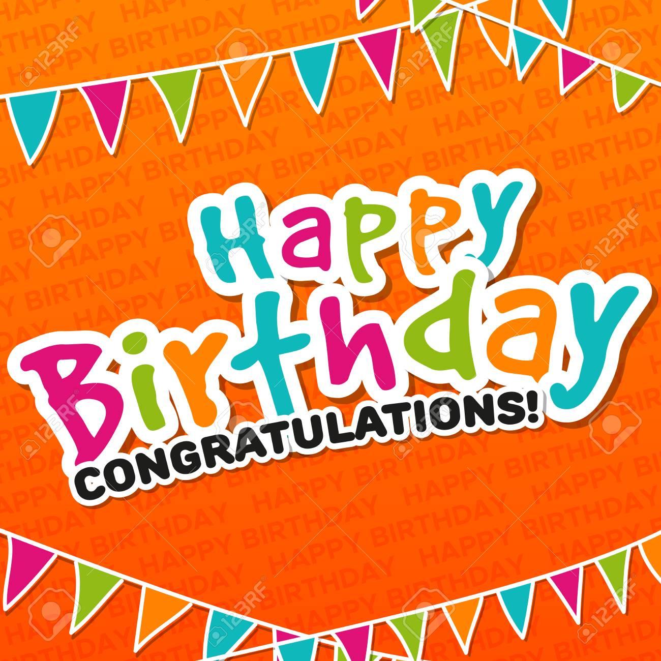 happy birthday congratulations greeting