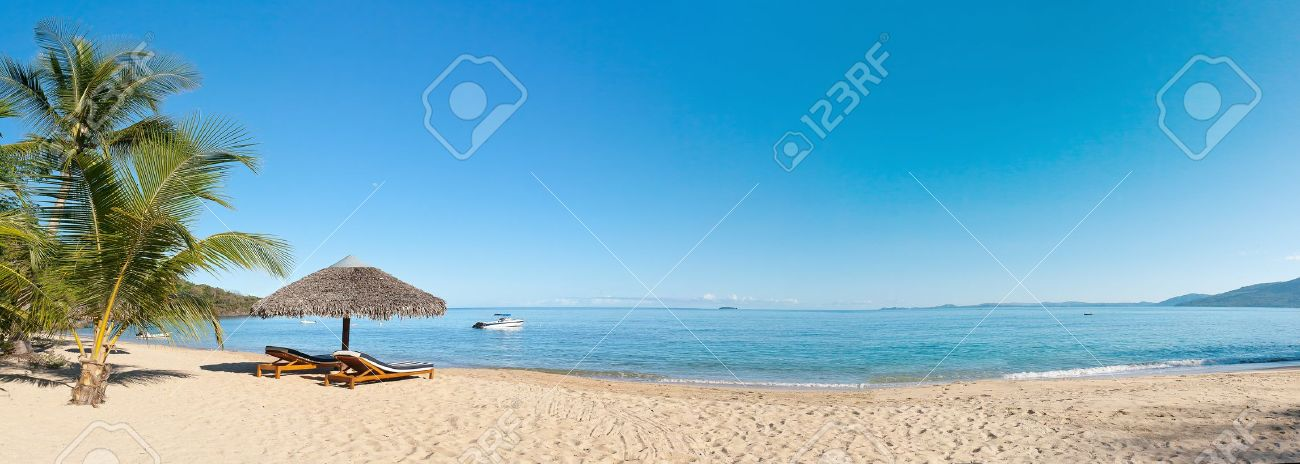 tropical beach panorama with