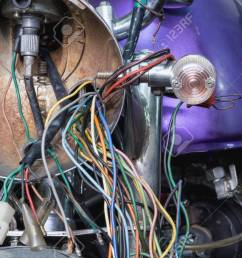 electric wiring of an old motorcycle headlight stock photo 66956349 [ 1300 x 866 Pixel ]