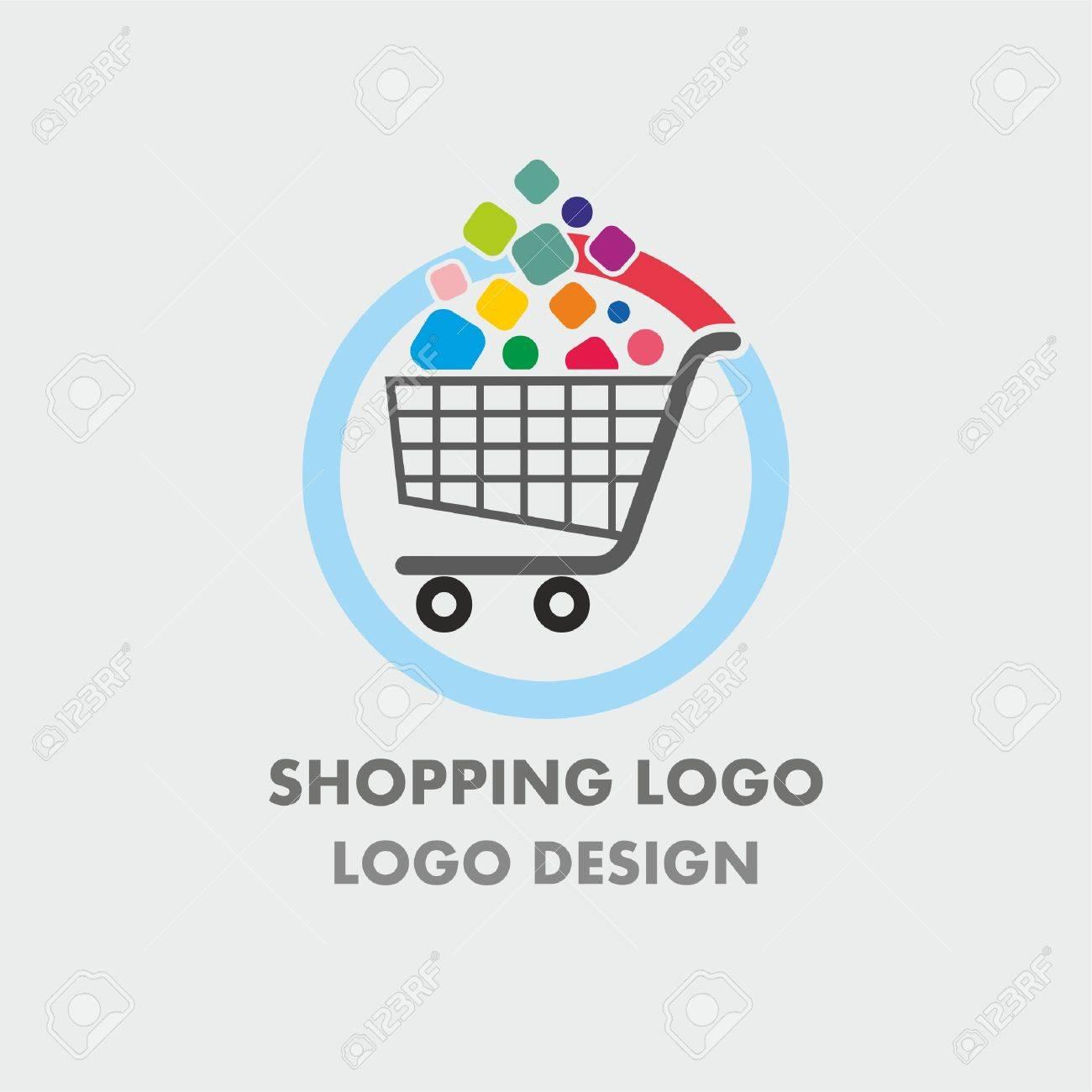 abstract shopping cart logo