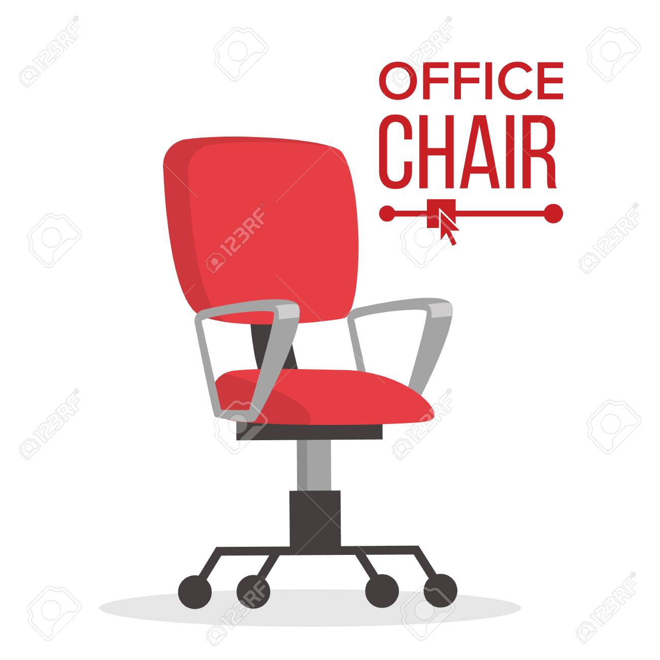 office chair vector grosfillex resin lounge chairs business manager empty seat for employee ergonomic armchair executive director