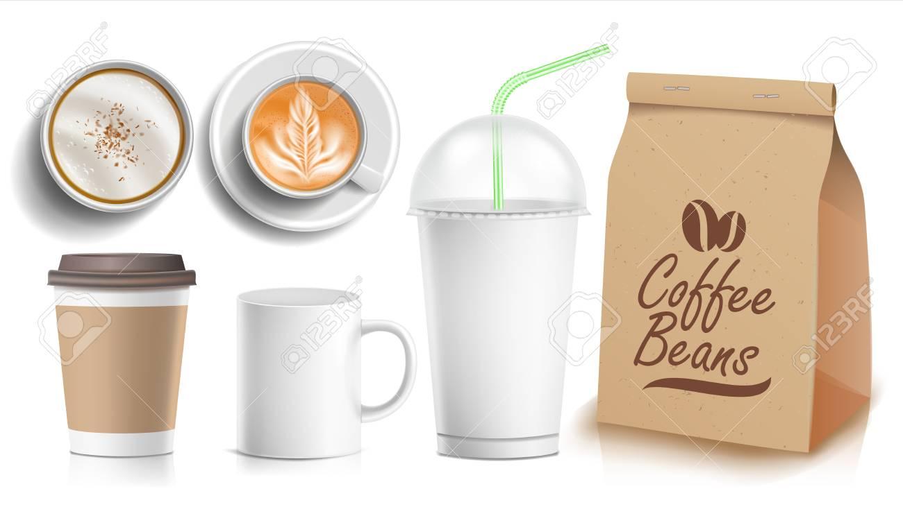 coffee packaging design vector