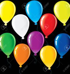 isolated colorful party balloons vector colorful clip art for your festive design stock vector  [ 1300 x 1300 Pixel ]