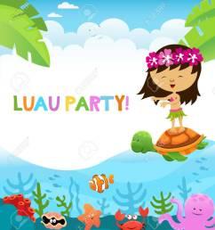luau party stock vector 59356718 [ 1155 x 1300 Pixel ]