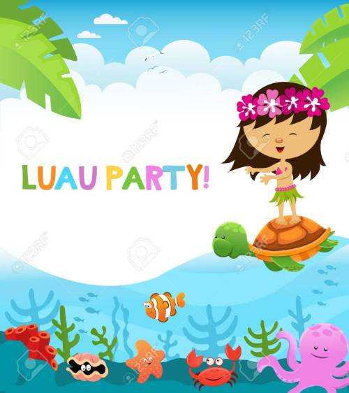 small resolution of luau party stock vector 59356718