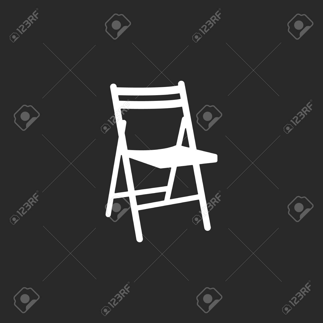 festival folding chair cheap reception chairs for sale sign simple icon on background royalty free stock vector 59841043