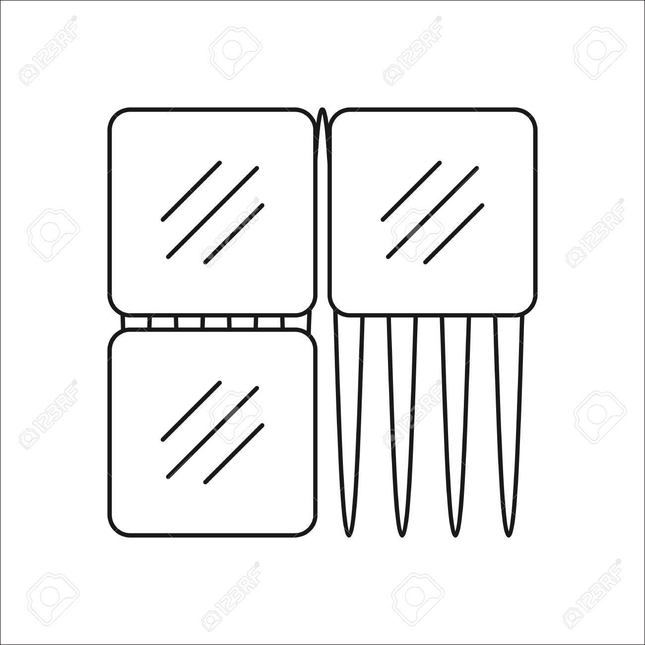 tile adhesive symbol sign line icon on background