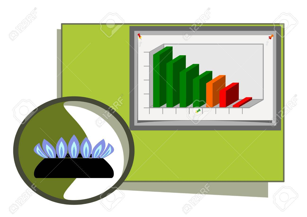 hight resolution of natural gas diagram stock vector 4442071