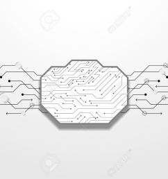 abstract black circuit lines vector technology royalty free  [ 1300 x 918 Pixel ]