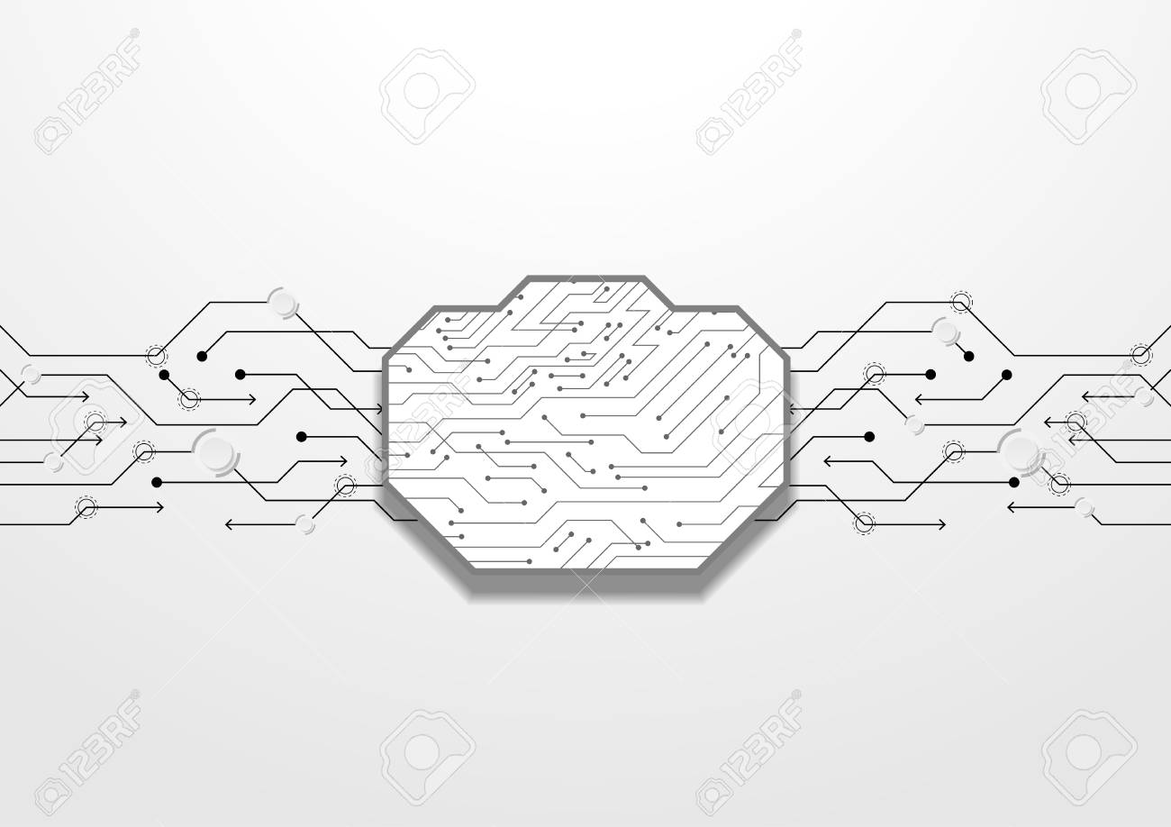 hight resolution of abstract black circuit lines vector technology royalty free